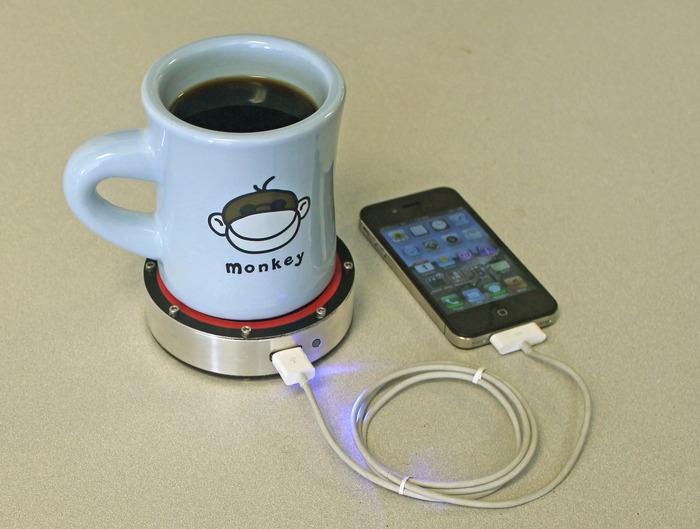 Recharger batterie avec tasse à café