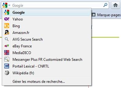 Google Firefox moteur de recherche par défaut