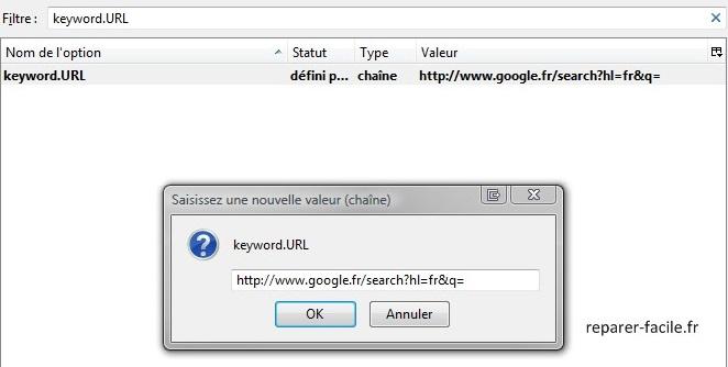 Remplacer Yahoo par Google dans la barre d'URL de Firefox
